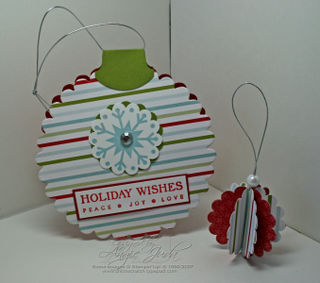 Holiday Wishes Ornament Card