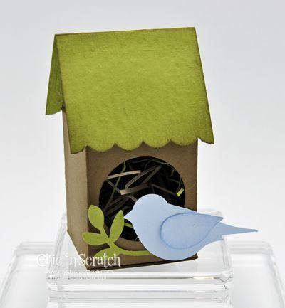 Olive birdhouse