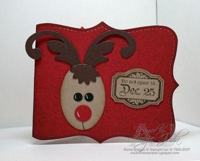 Reindeer gift card