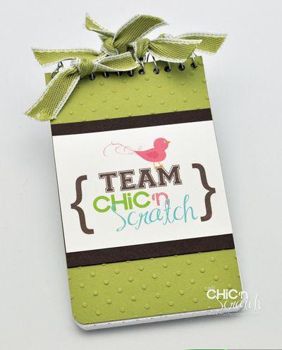 Team chicnscratch notepad