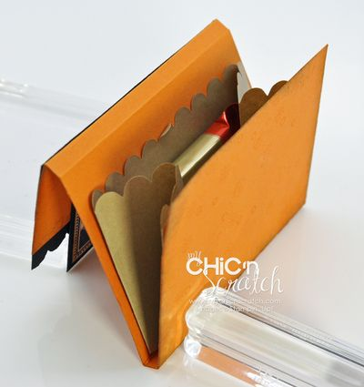 Lunch sack treat holder open