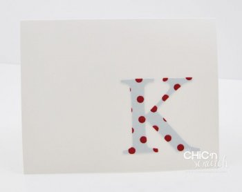 How to monogram your card with Fabric