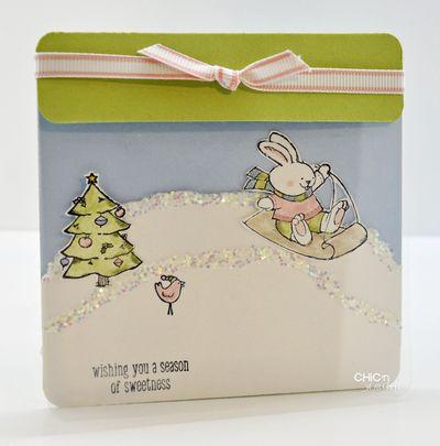 Merry crittermas clear card