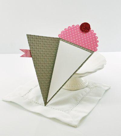 Inside petal cone card