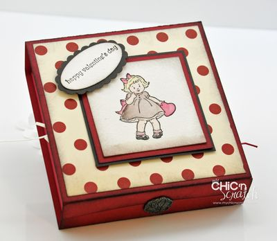 Greeting Card Kids Valentine Box
