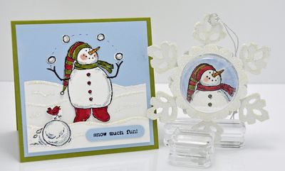 Snow much fun card & ornament