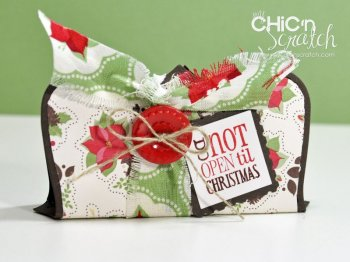 12 Days of Christmas #8 Top Note Candy Bar Holder