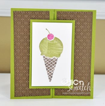 Mouthwatering Ice cream cone card