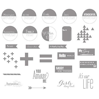 Graphic Days Stamp Brush Set - Digital Download 133496 Price: $9.95