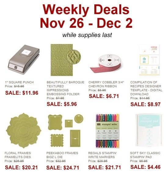 weekly deals nov 26th