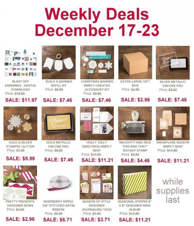 Weekly Deals dec. 17