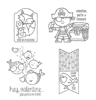Hey Valentine Stamp Set