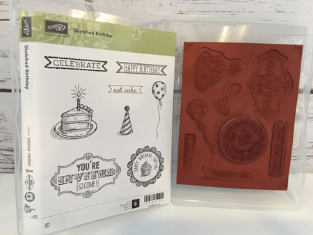 Sketched-Birthday-Clear-Mount-Stamp-Set-USED