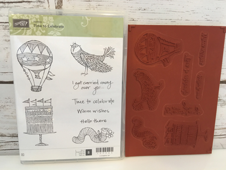 Time-to-Celebrate-Clear-Mount-Stamp-Set-NEW