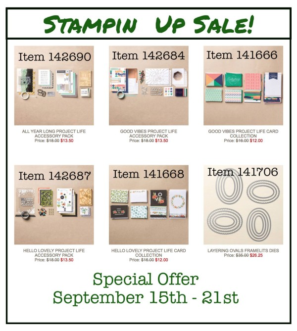 Special Offer Sept 15 - 21st