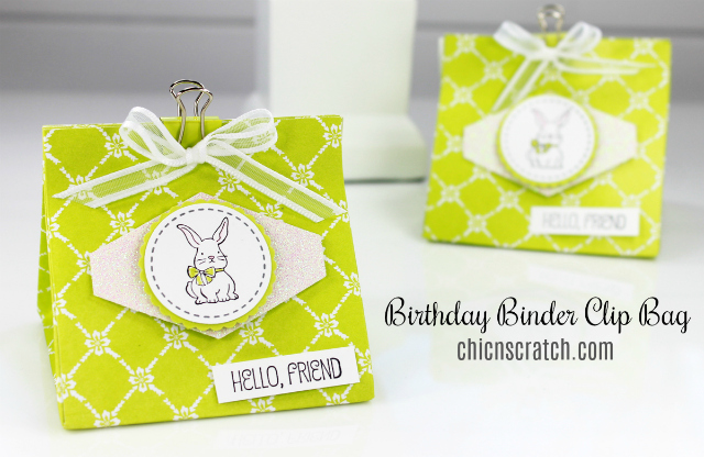Birthday Binder Clip Bag