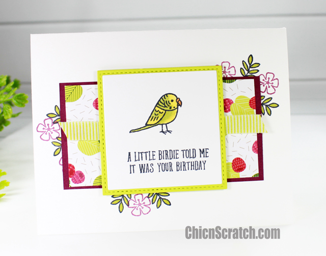 A Little Birdie Told Me Birthday Card