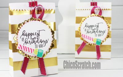 Picture Perfect Birthday Altered Treat Bag