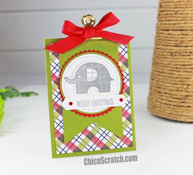 Gift Card Holder Featuring Little Elephant Stamp Set Chic N Scratch