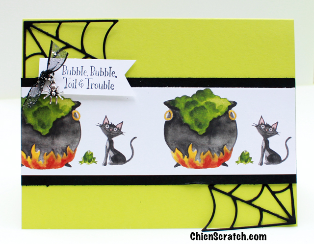 Card 1 – Cauldron Bubble Stamp Kit