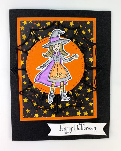 Cauldron Bubble Stamp Kit Card 4