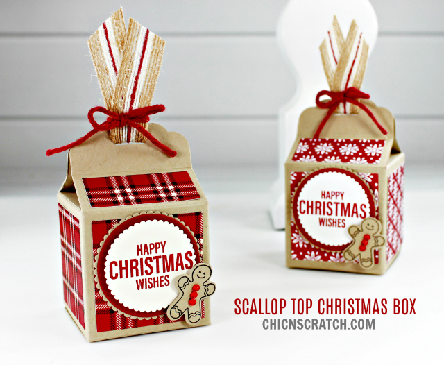 Scallop Top Christmas Box