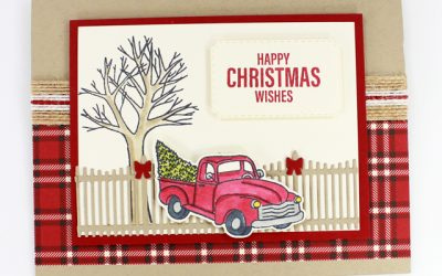 Farmhouse Christmas Stamp Kit Card Four
