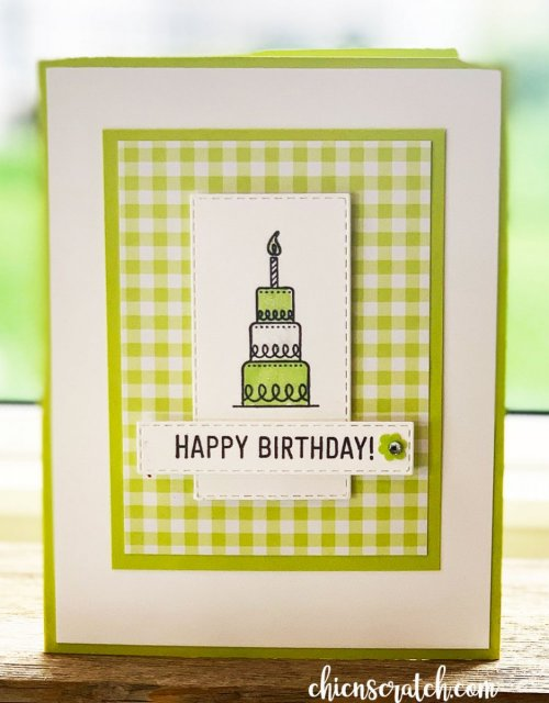 My Crafty Project For You Today Is This Simple Birthday Card And I Shared It Yesterday During Coffee A Over On Facebook