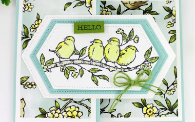 Gift Card Holder Featuring Free as a Bird Stamp Set