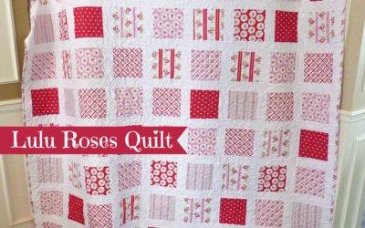 Lulu Roses Quilt Top