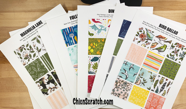 Stampin' Up! Catalog Designer Series Paper Charts - Chic n Scratch