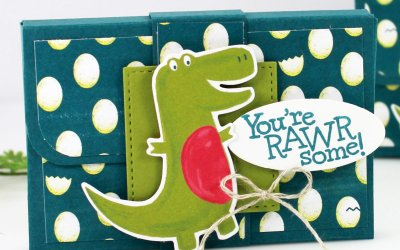 Gum Holder Box Featuring Dino Days