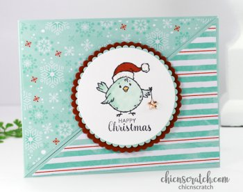 Double Triangle Fun Fold Christmas Card