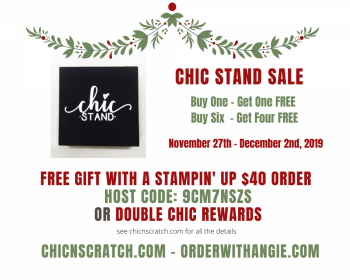 Chic Stand Sale + Ordering Special