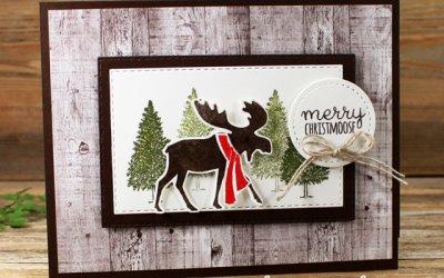 Merry Moose Fun Fold Card