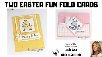 Two Easter Fun Fold Cards