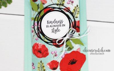 Peaceful Poppies Fun Fold Card