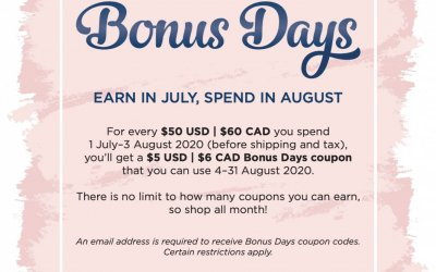 Earn Coupons with Bonus Days